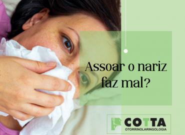 Assoar o nariz faz mal?
