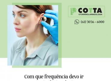 Com qual frequência devo ir ao otorrinolaringologista?