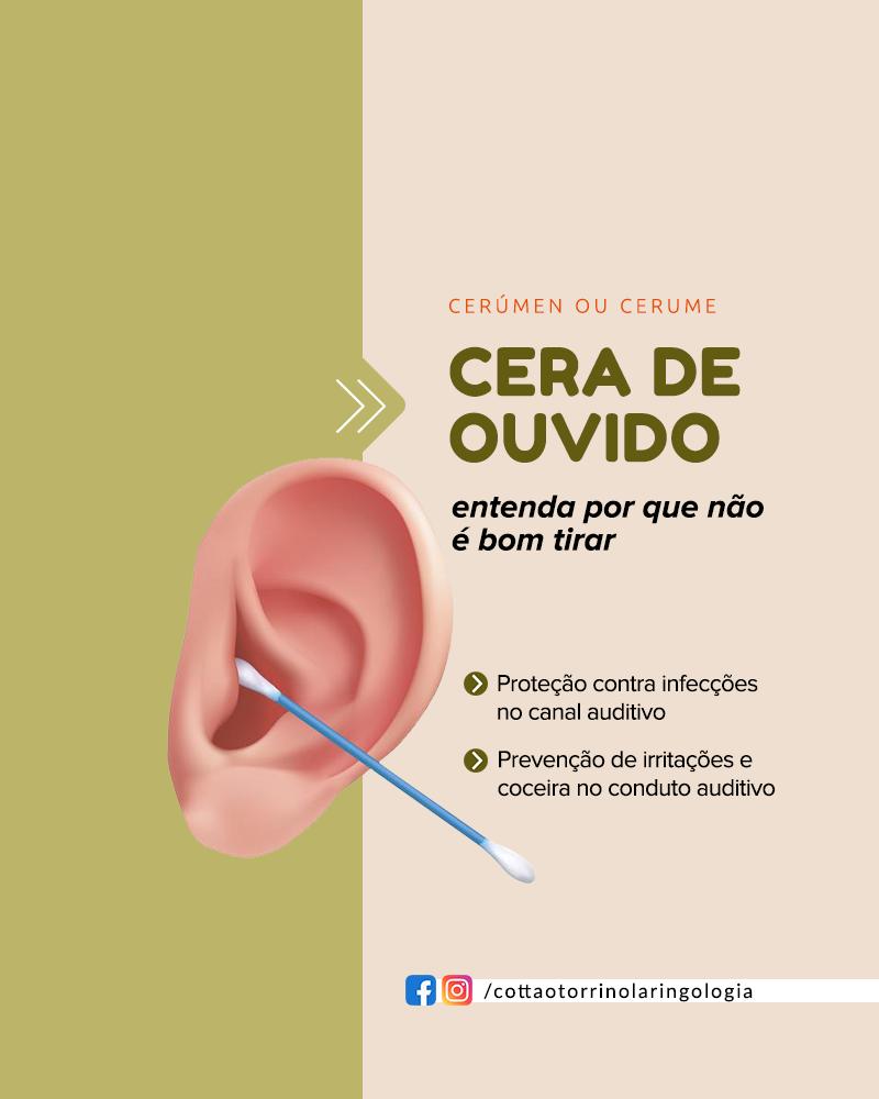 Cera de Ouvido: Entenda por que não é bom tirar