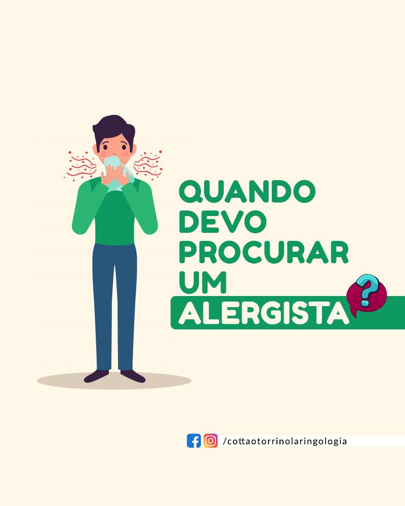 Quando devo procurar um alergista