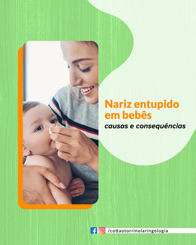 Nariz entupido em Bebês: causas e consequências